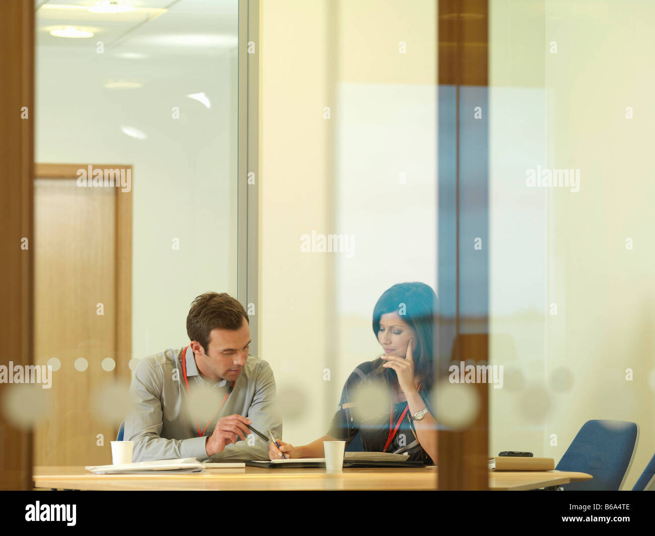 Office staff in meeting - Stock Image