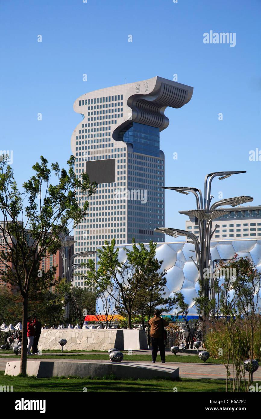 China Beijing Pan Gu Building National Aquatics Center - Stock Image