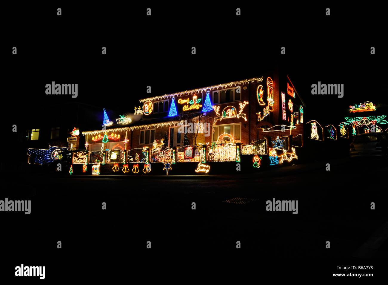 Christmas Lights Festive Outside Stock Photos & Christmas Lights ...