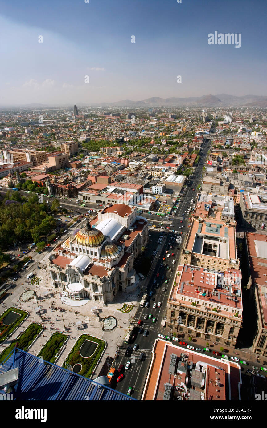 Mexico, Mexico City, View from Torre Latino America. - Stock Image