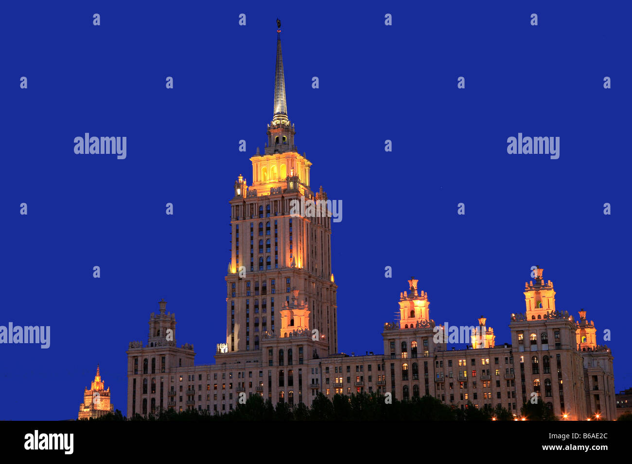 Hotel Ukraina, one of Stalin's Seven Sisters in Moscow, Russia Stock Photo