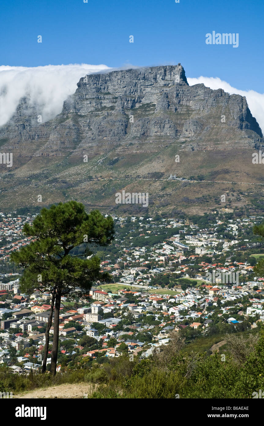Table Mountain view from Signal Hill Cape Town South Africa - Stock Image