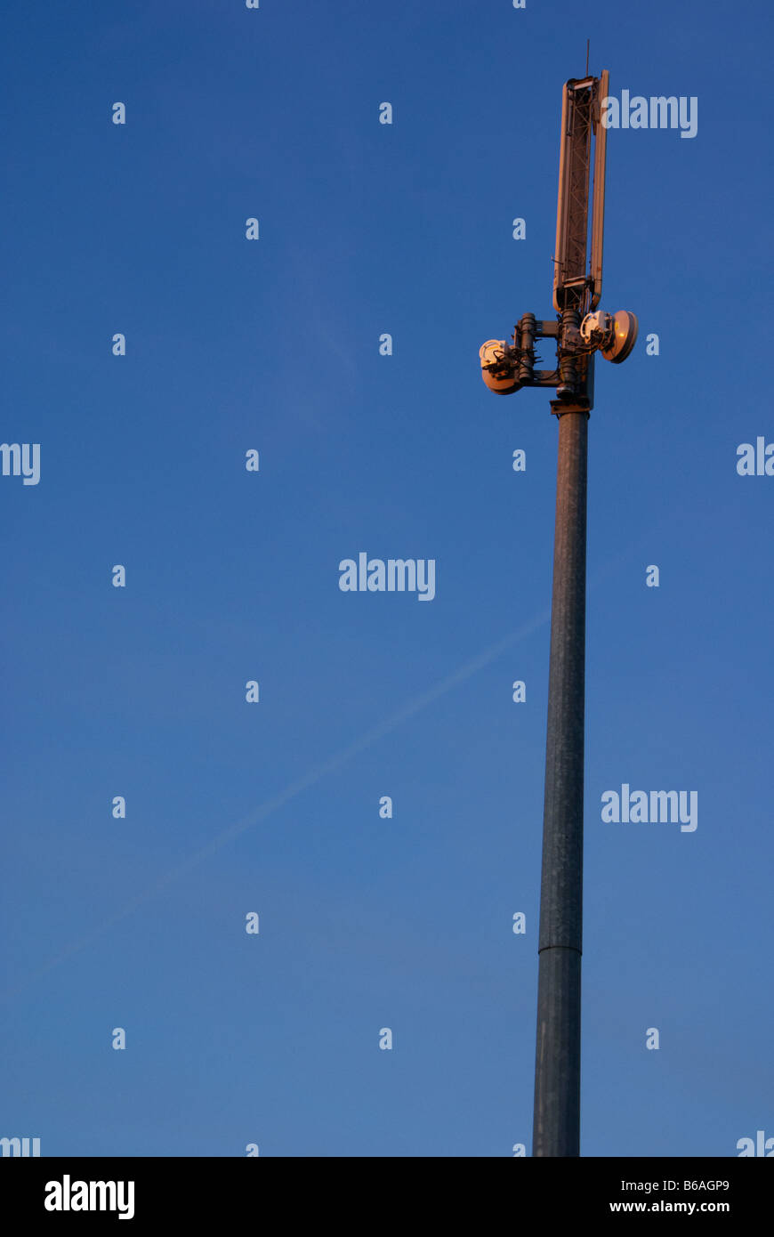 Mobile phone mast in Derbyshire England Stock Photo