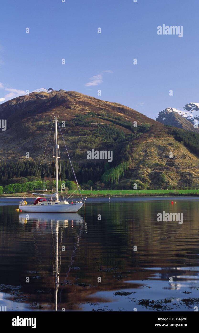 Bishops Bay on Loch Leven near North Ballachulish, Lochaber, Highland, Scotland, UK. - Stock Image