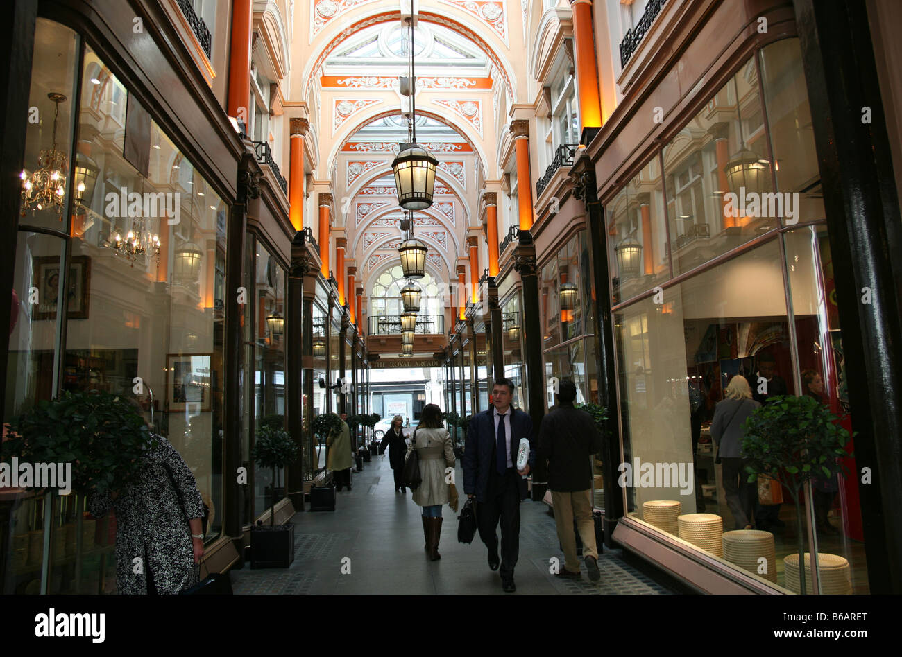 Royal Arcade, Bond Street, London - Stock Image