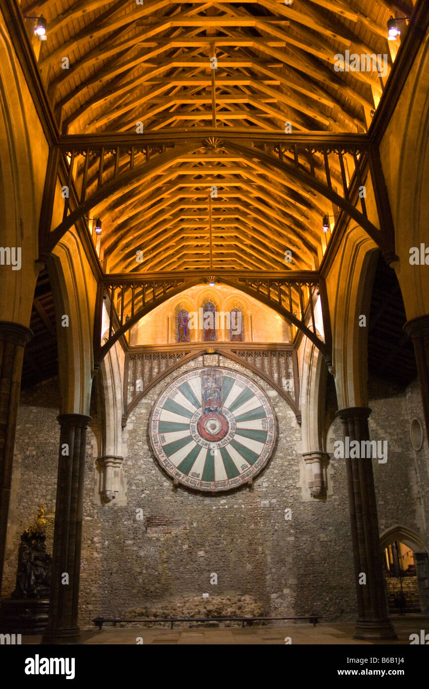 The Round Table of King Arthur, Winchester Stock Photo