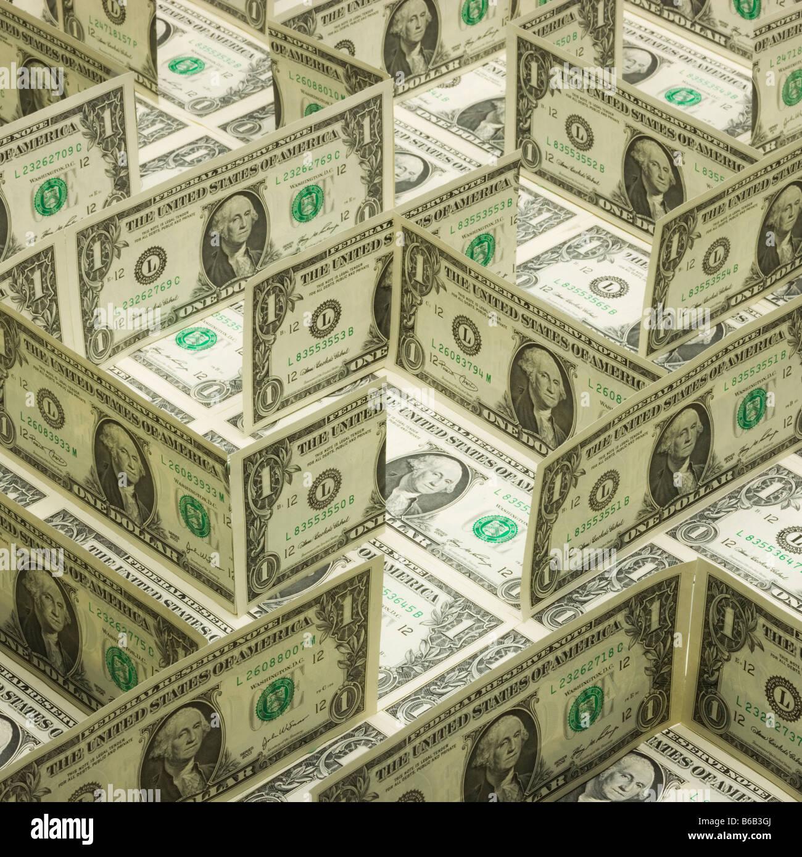maze of dollars - Stock Image