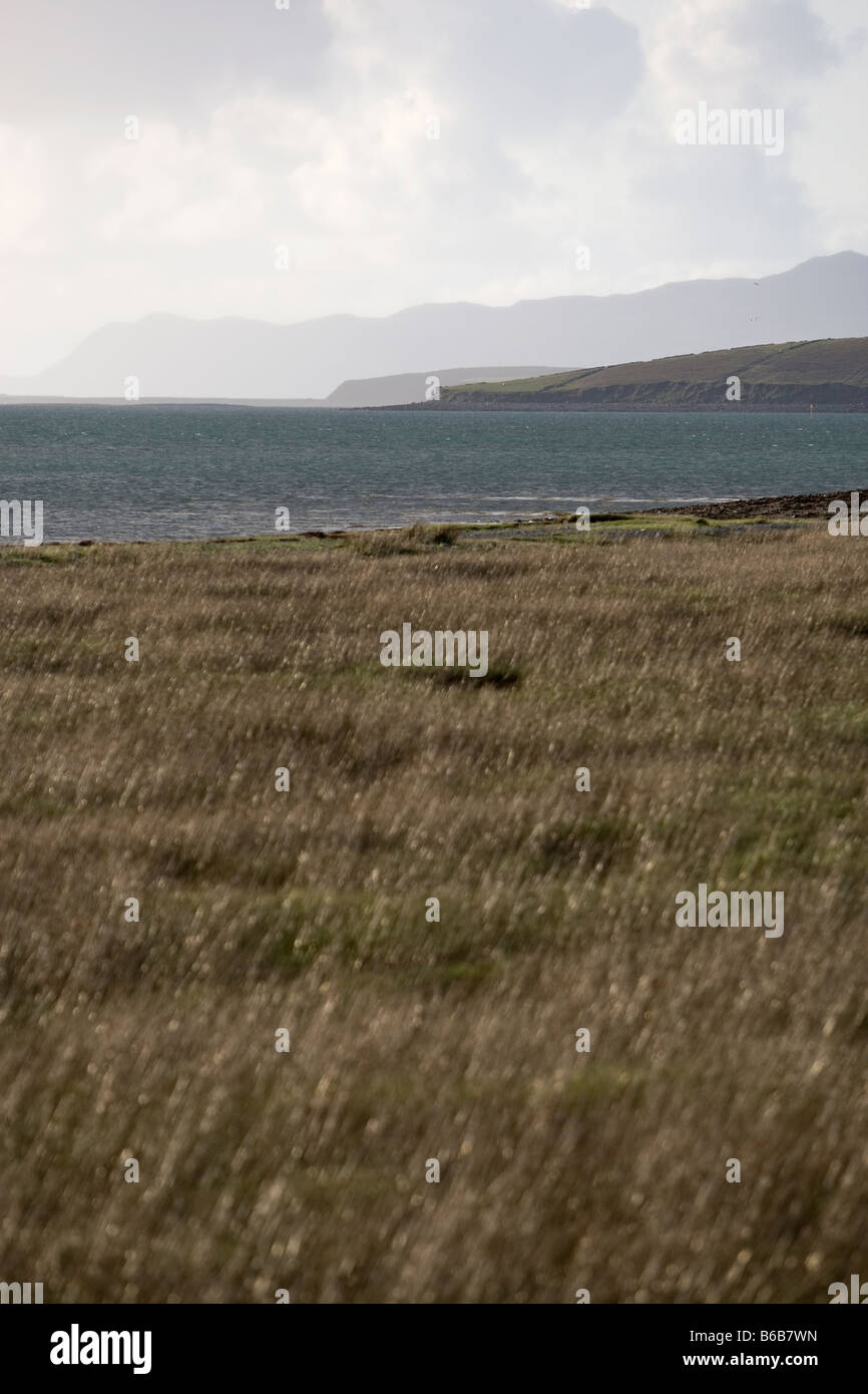 Fields and loughs in Co Mayo, Western Ireland - Stock Image
