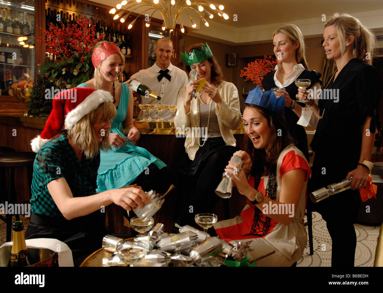 All Girl Office Xmas Party At Kettners Bar And Restaurant London