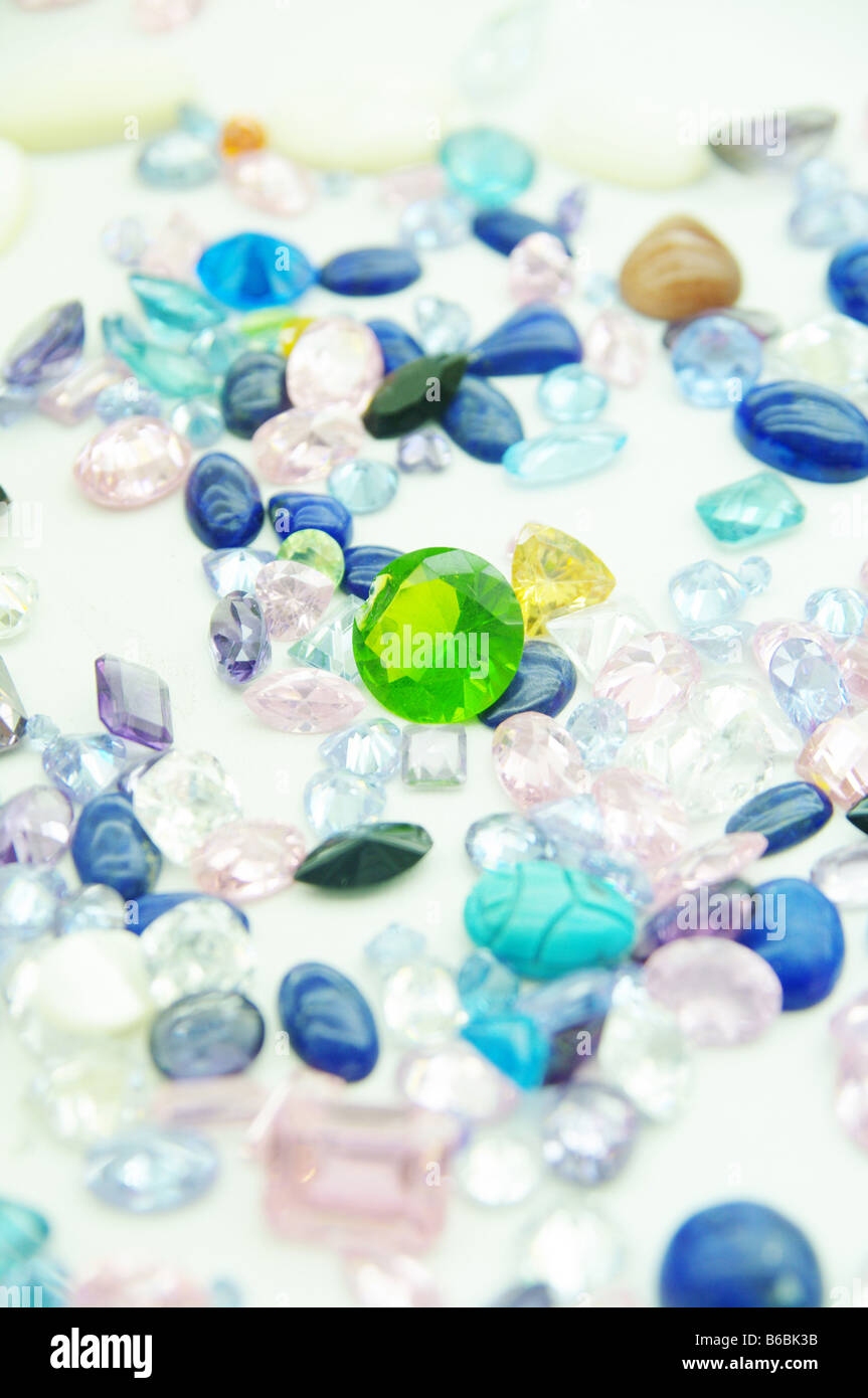 precious jewel stones in an outlay Stock Photo