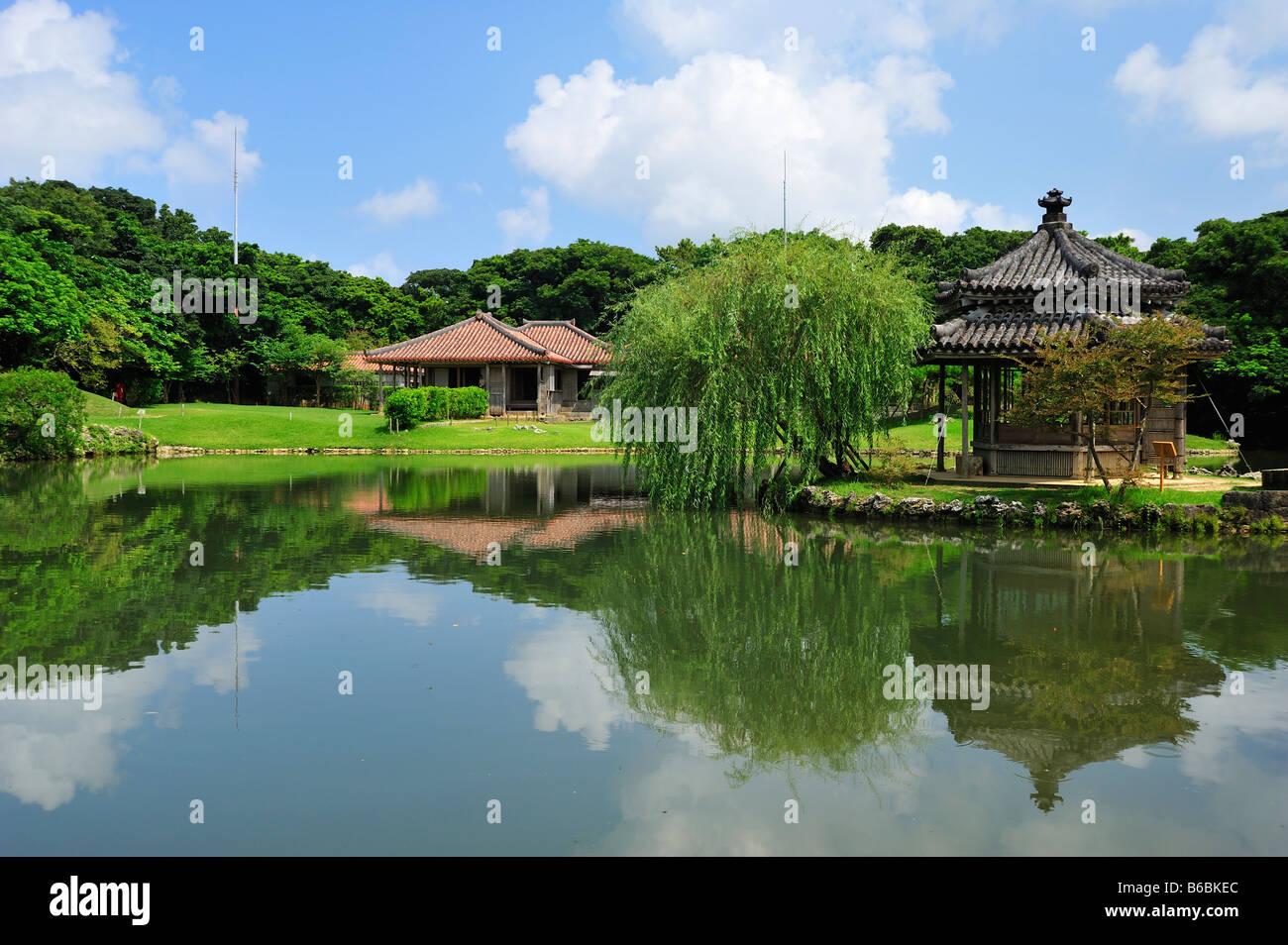 shikinaen shuri naha okinawa japan - Stock Image