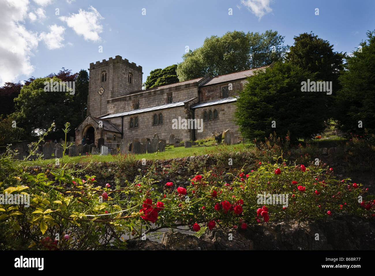 St James Church, Brassington, Peak District, Derbyshire, England, UK - Stock Image