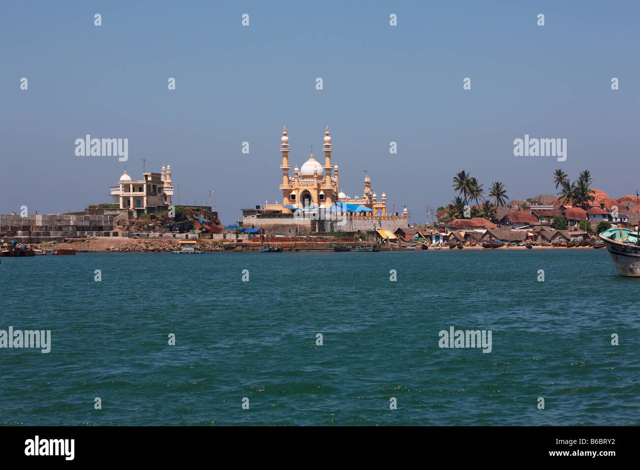 Vizhinjam village in kerala,india - Stock Image