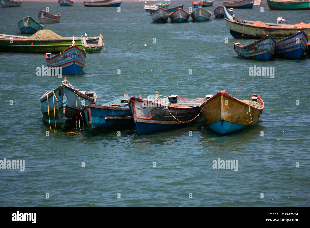 Fishing boats in Vizhinjam Harbour,Kerala,India - Stock Image