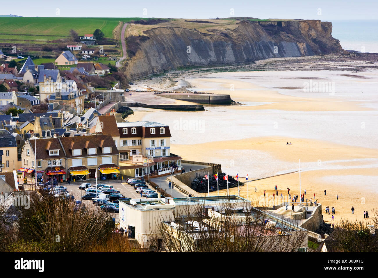 Arromanches Les Bains, Normandy, France on the WW2 Gold Beach - Stock Image