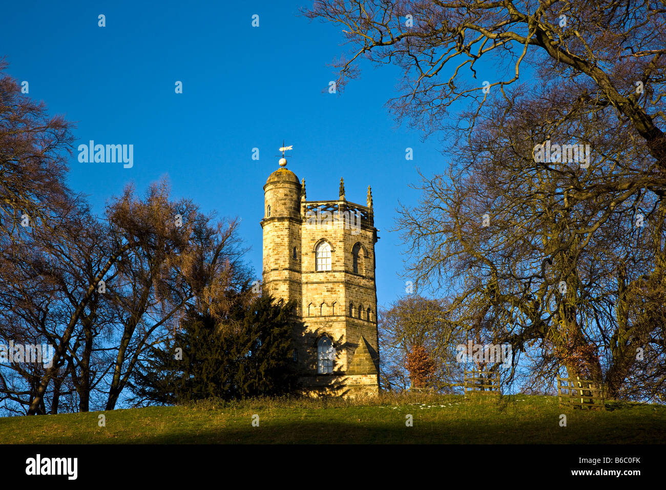 The Culloden Tower Richmond North Yorkshire - Stock Image
