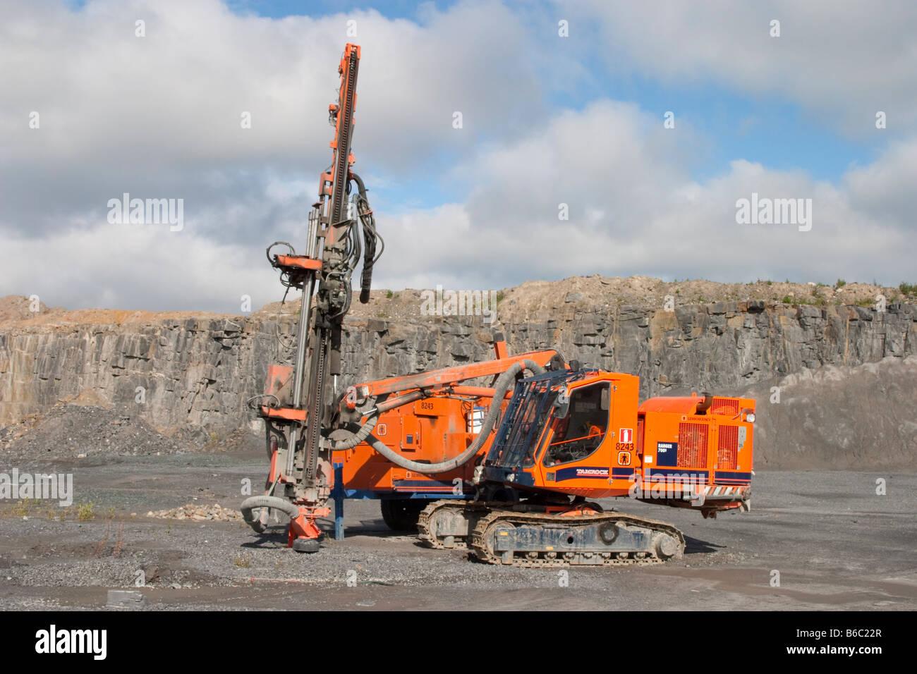 Tamrock Ranger 780 rock drilling machine at a rock quarry