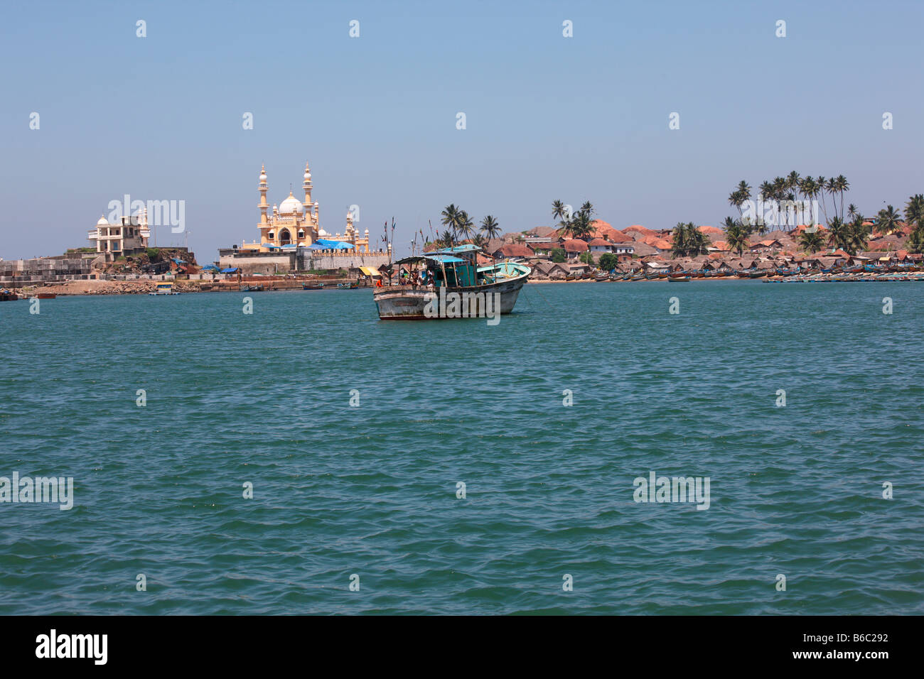 Vizhinjam harbour in Kerala,India - Stock Image