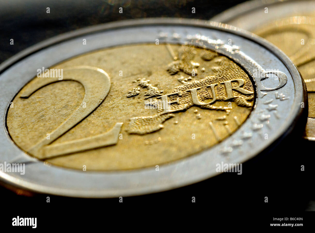A TWO EURO COIN - Stock Image