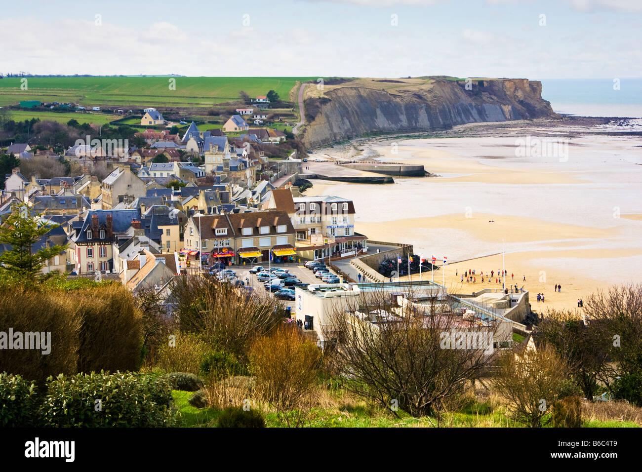 Arromanches Les Bains Normandy France - Stock Image