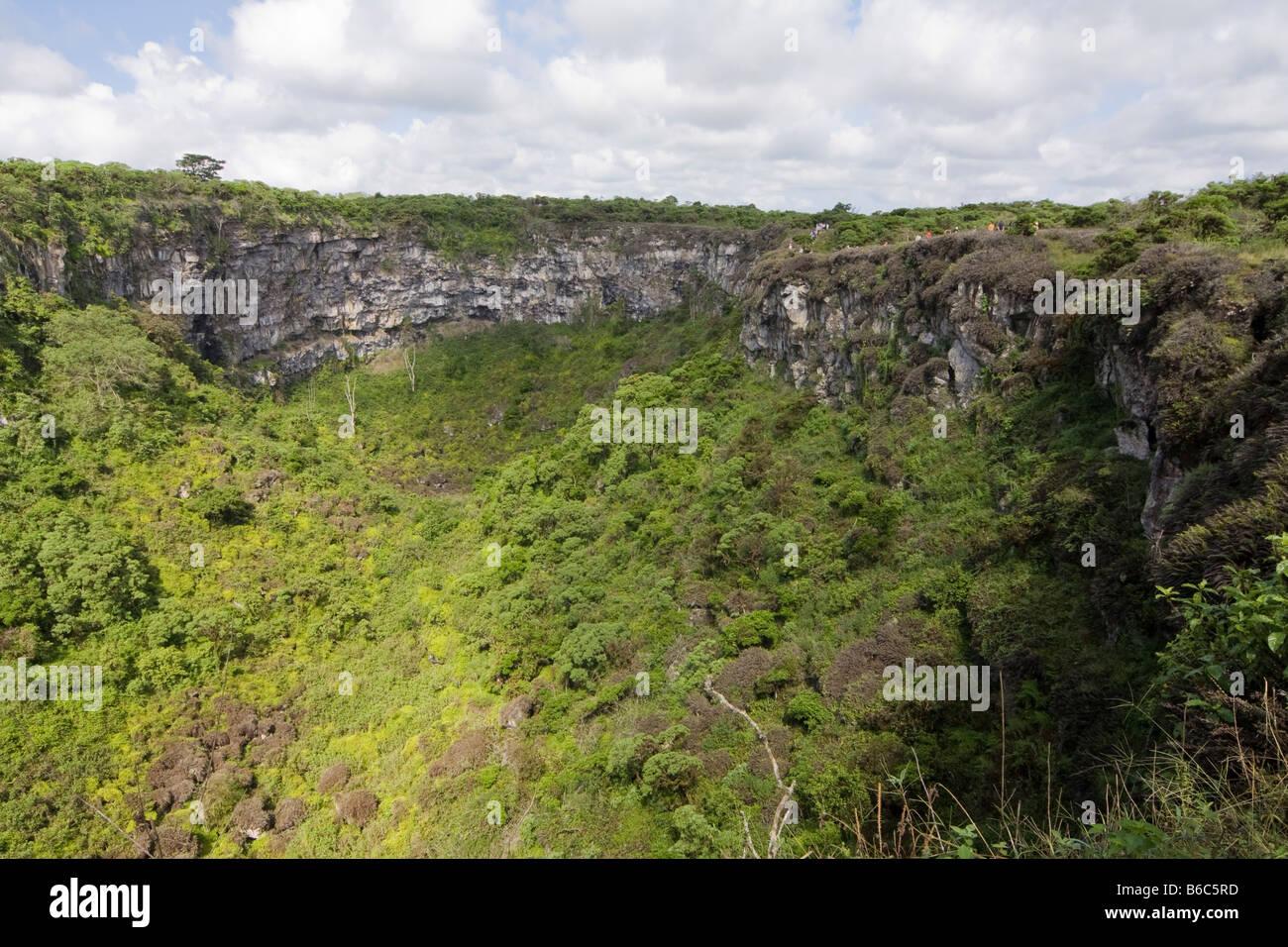 Collapsed Lava Dome Santa Cruz Galapagos Ecuador - Stock Image