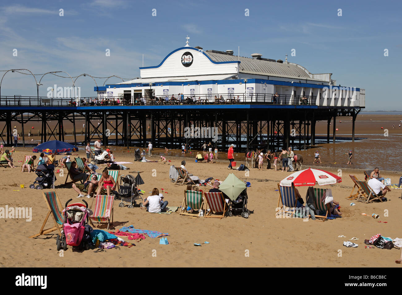 Cleethorpes traditional British seaside resort beaches Pier East Riding of Yorkshire UK Great Britain - Stock Image