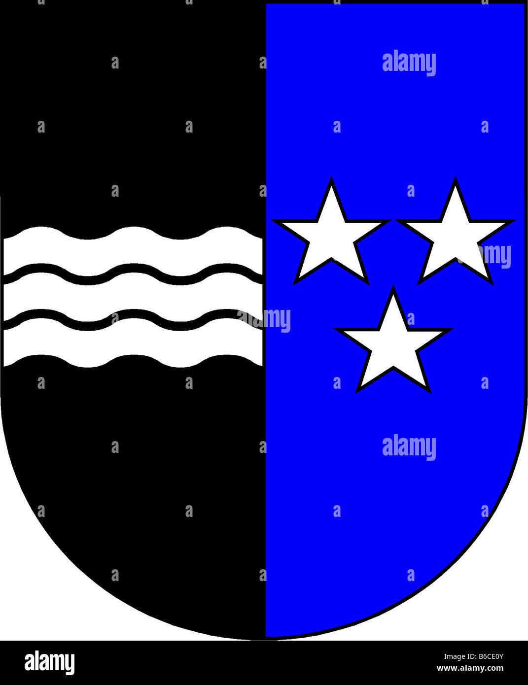 illustration flag of canton of aargau switzerland - Stock Image