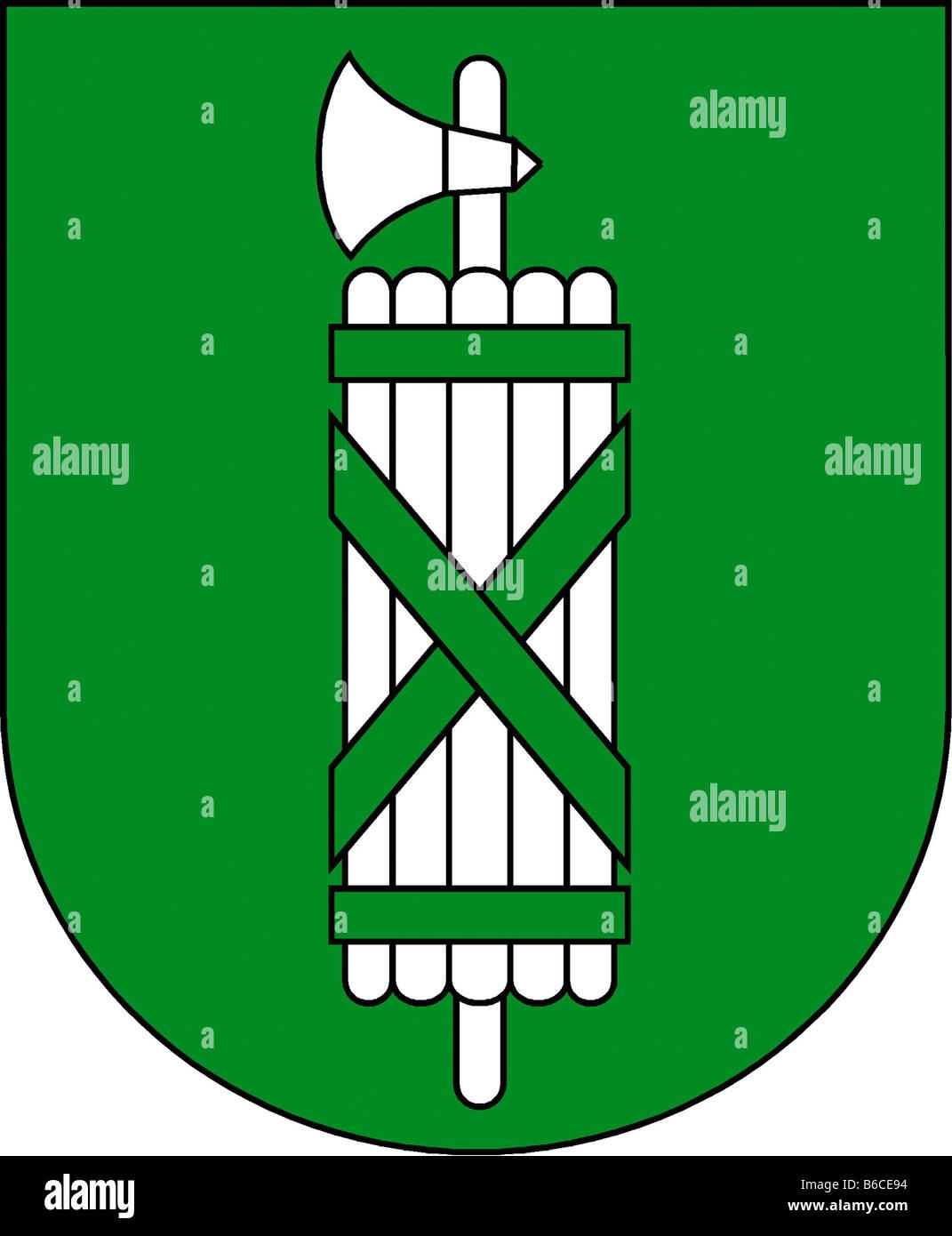 illustration flag of canton of saint gallen switzerland - Stock Image