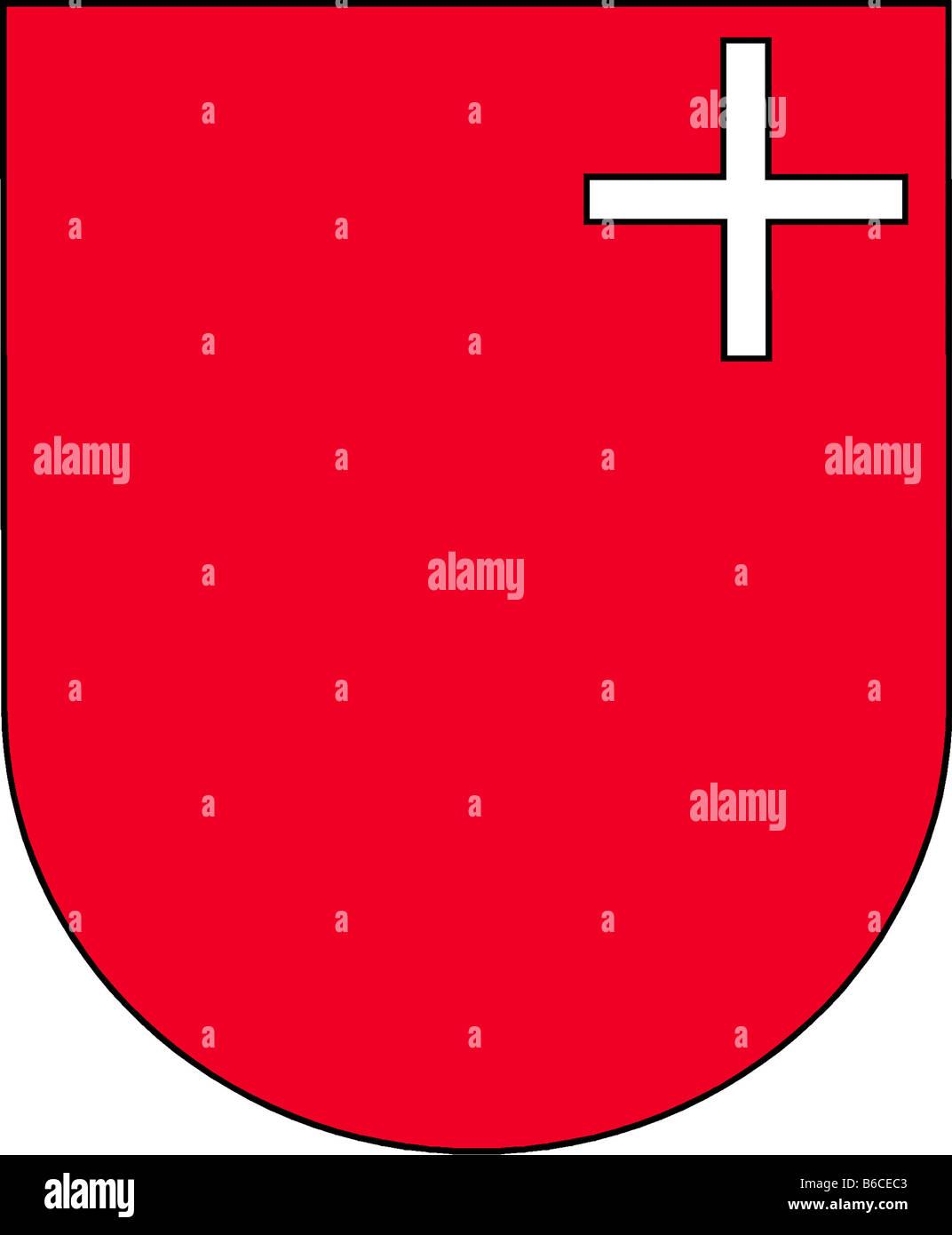 illustration flag of canton of schwyz switzerland Stock Photo