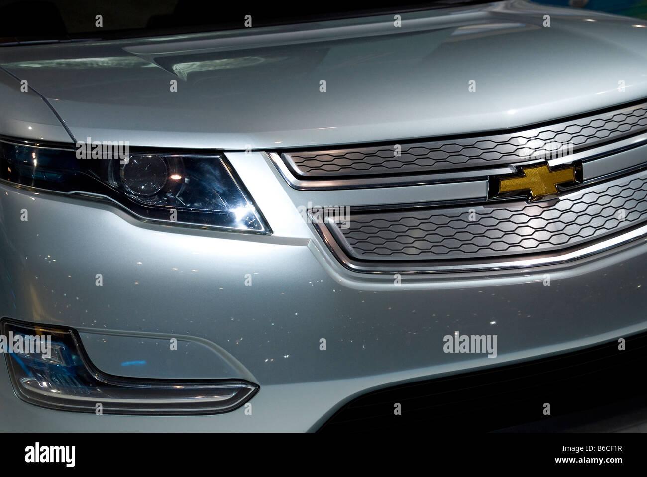 Front detail of Chevrolet Volt Stock Photo