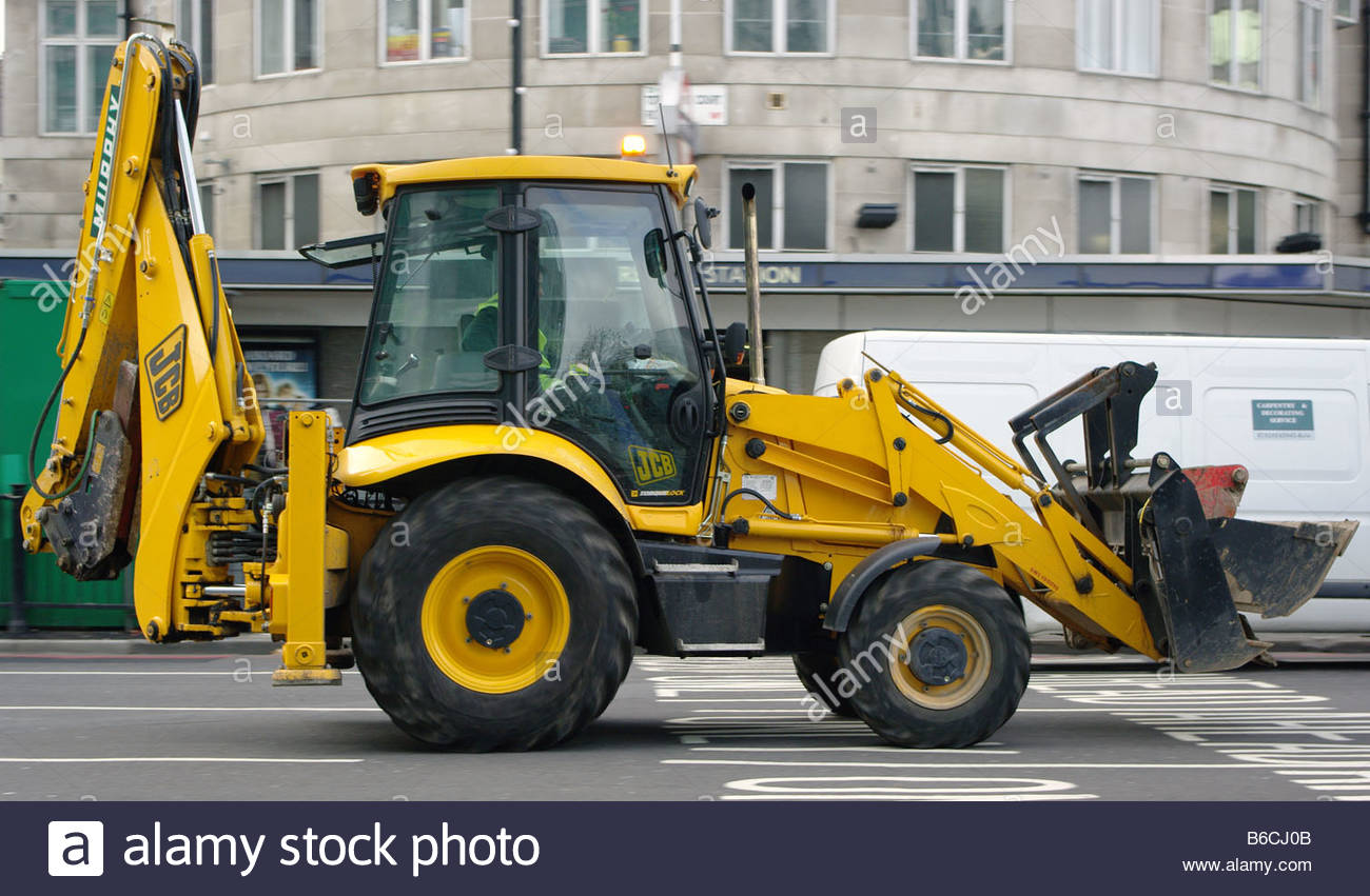 CONSTRUCTION machinery vehicle Germany German Deutch Deutchland yellow Stock Photo