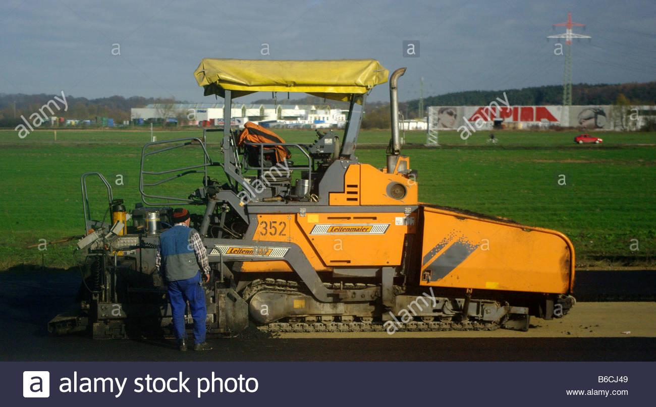 CONSTRUCTION machinery vehicle Germany German Deutch Deutchland yellow Stock Photo