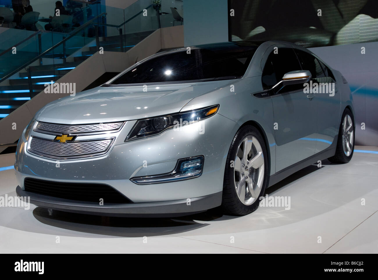 Front detail of Chevrolet Volt Stock Photo