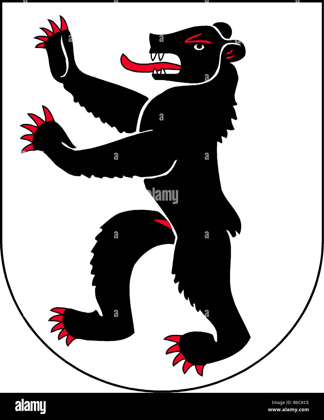 illustration flag of canton of appenzell innerrhoden switzerland - Stock Image