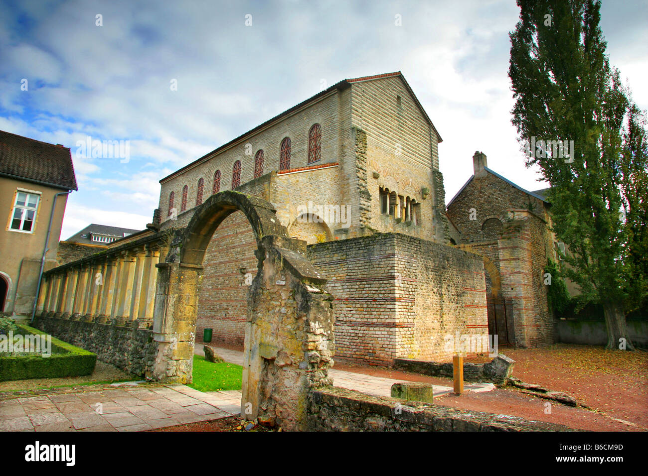 The church of St-Pierre-aux-Nonnains, Metz, France. - Stock Image
