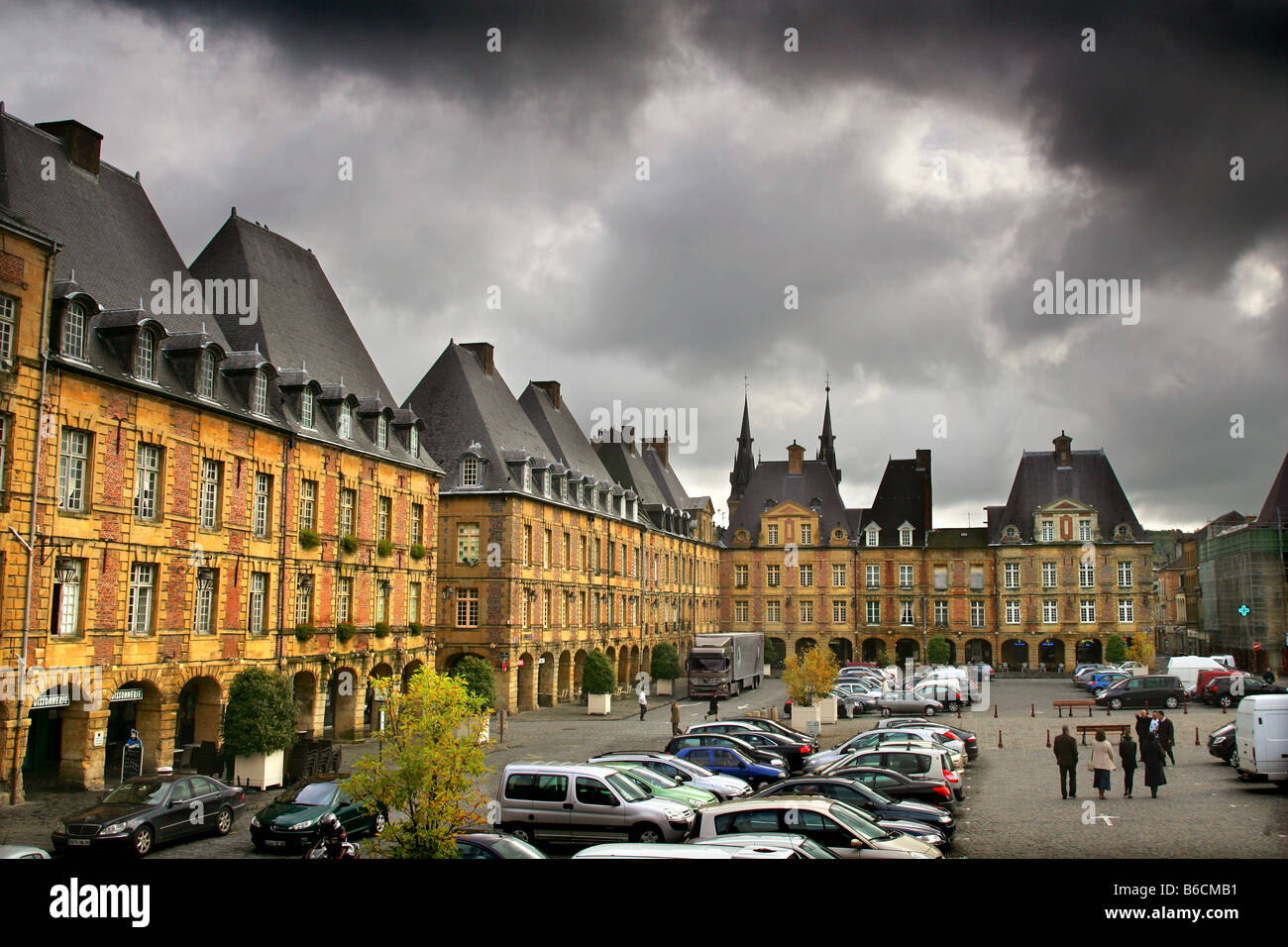 Charleville-Mezieres in the Ardennes, France. - Stock Image