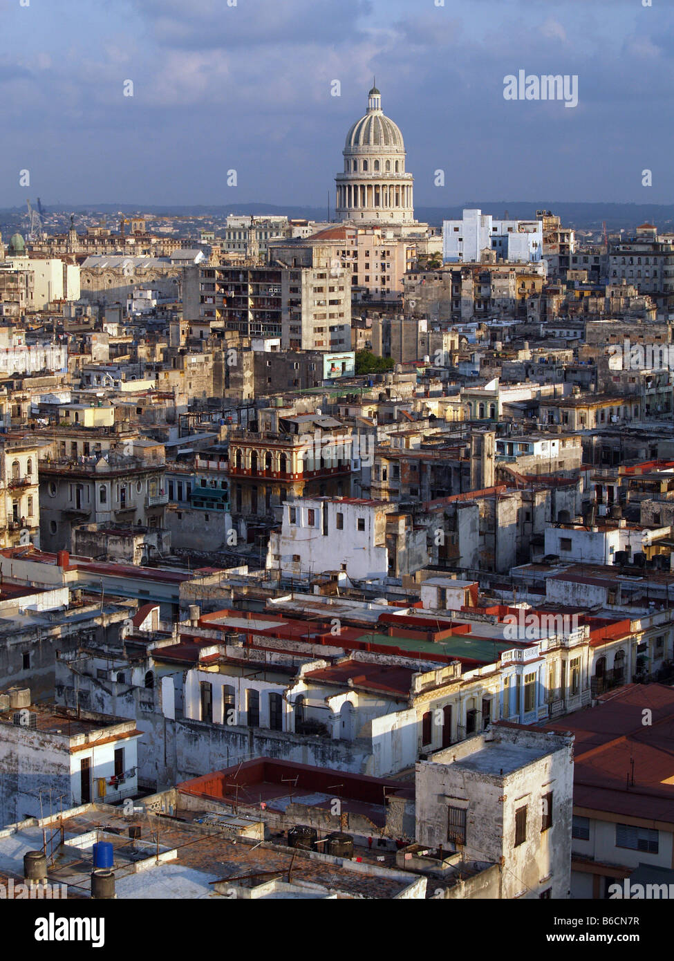 High angle view of city, Greater Antilles, Havana, Cuba - Stock Image