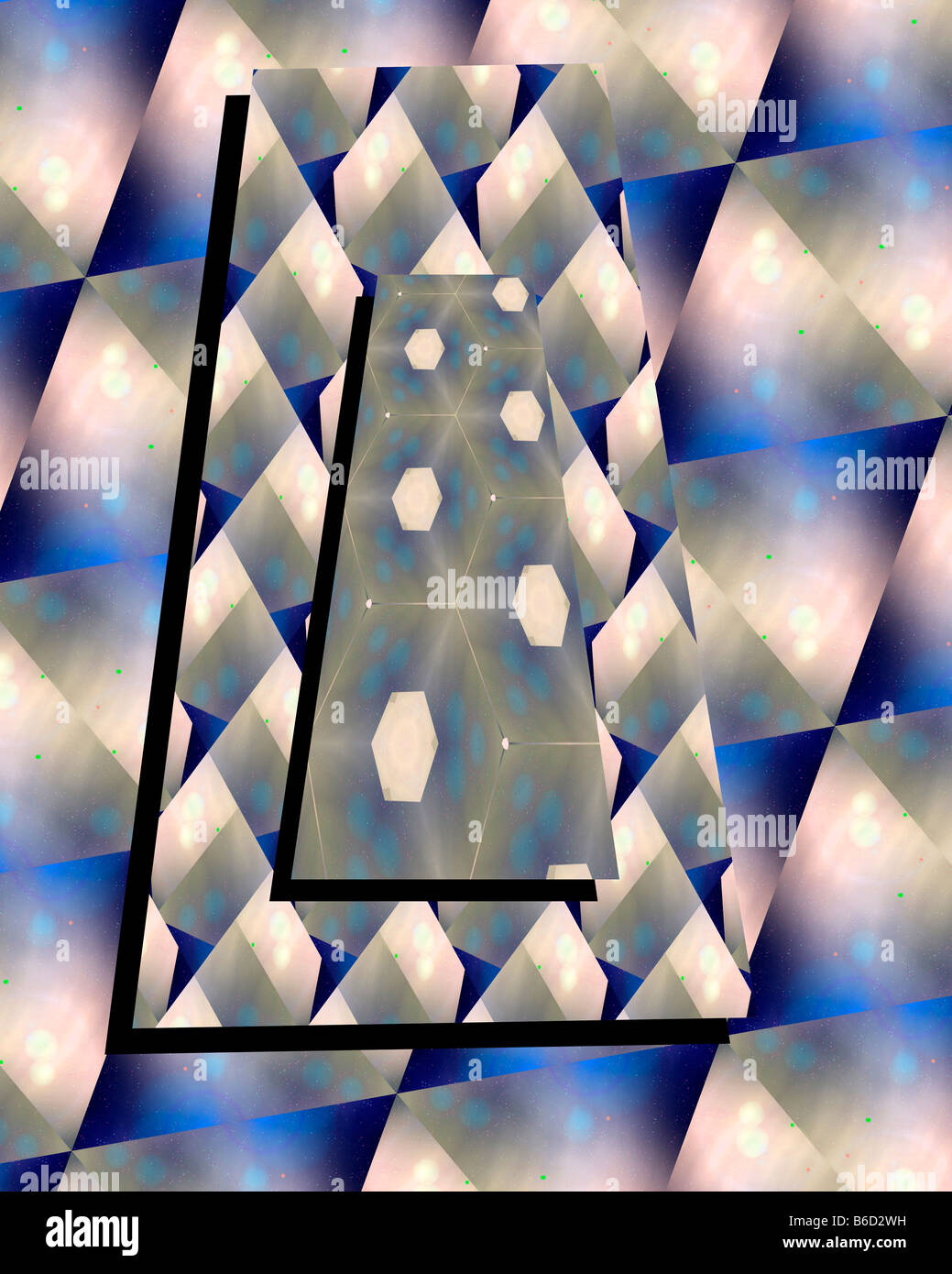 Abstract Design Entitled Composition In Blue - Stock Image