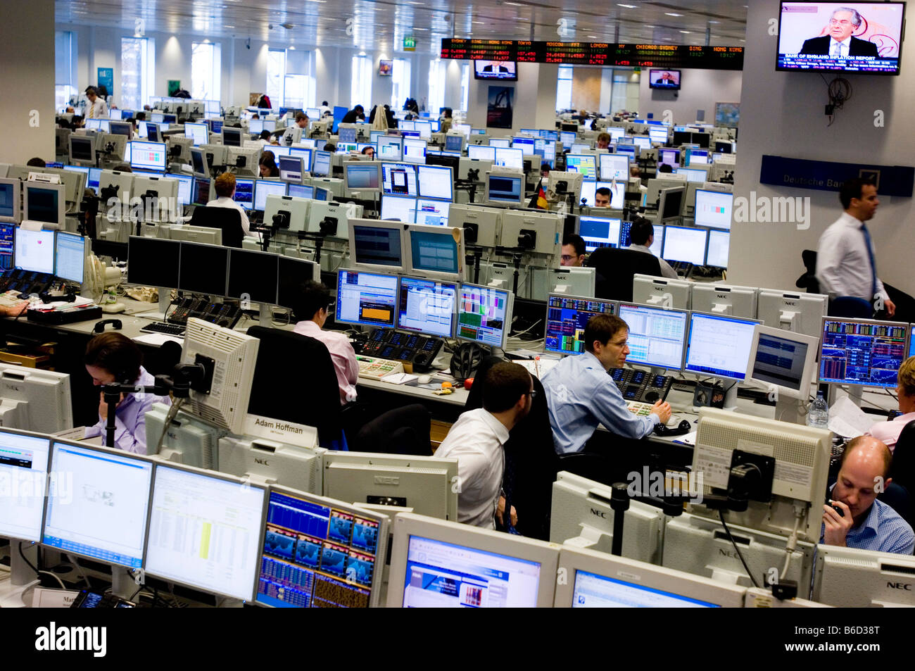 Trading Floor Of Deutsche Bank In The City Of London The
