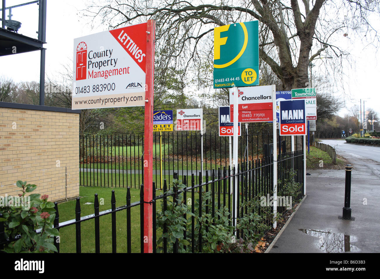 Boards Representing Estate & Letting Agents - Stock Image