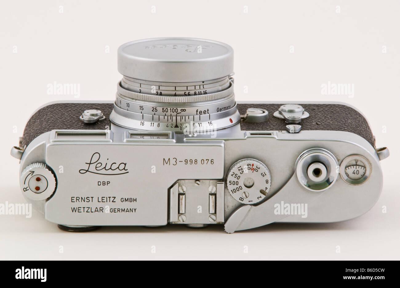 Classic Leica M3 rangefinder film camera - Stock Image