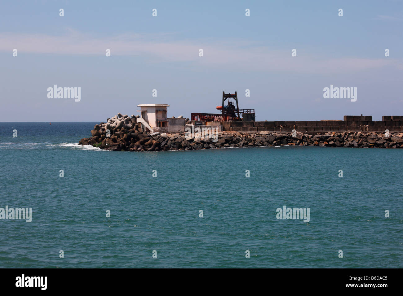 Wave energy station in Vizhinjam,Kerala,India - Stock Image