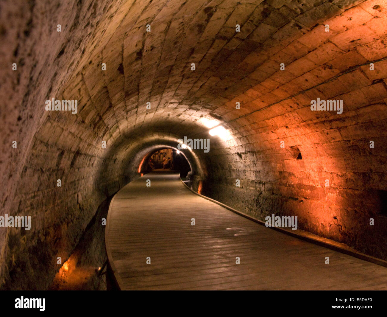 UNDERGROUND MEDIEVAL KNIGHTS TEMPLAR WATER TUNNEL CITADEL ACCO OLD TOWN WESTERN GALILEE ISRAEL - Stock Image