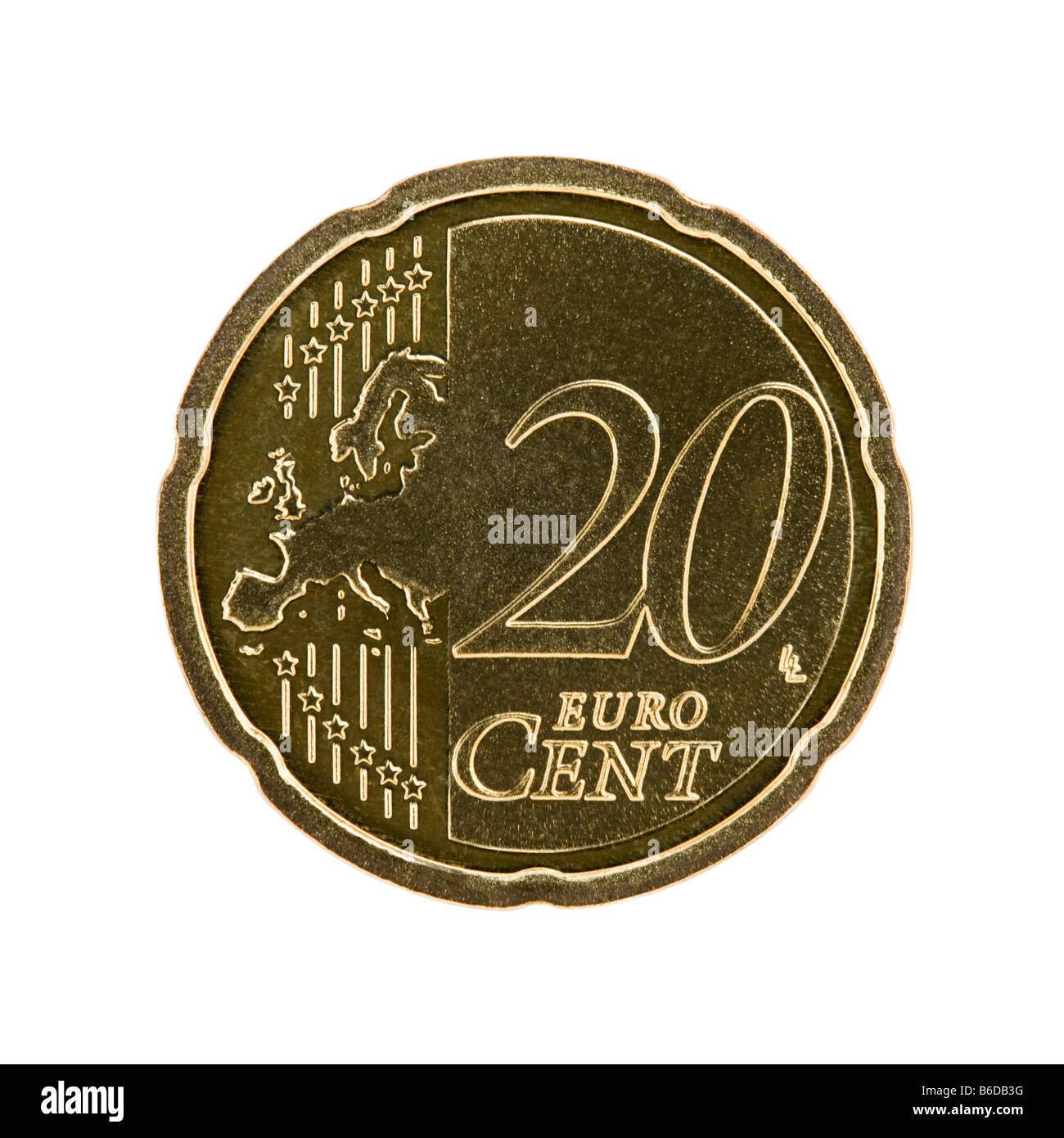 20 euro cent coin - Stock Image