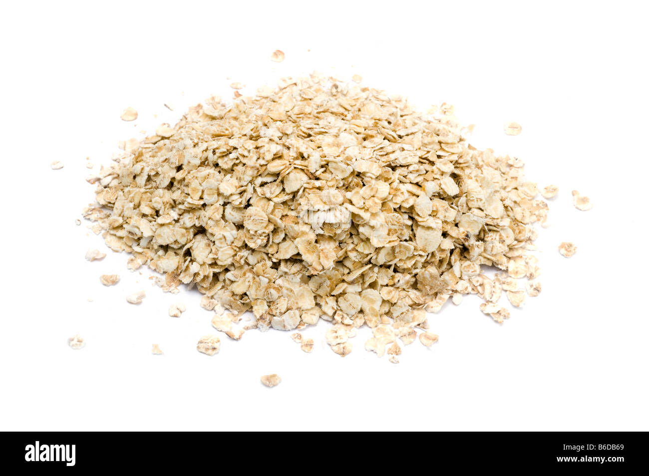 Pile of rolled oats - Stock Image