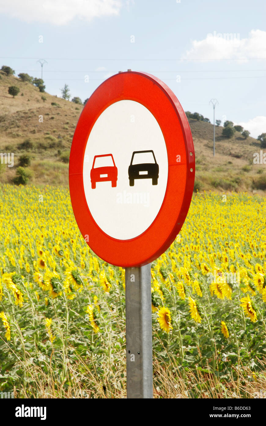 No overtaking sign. - Stock Image