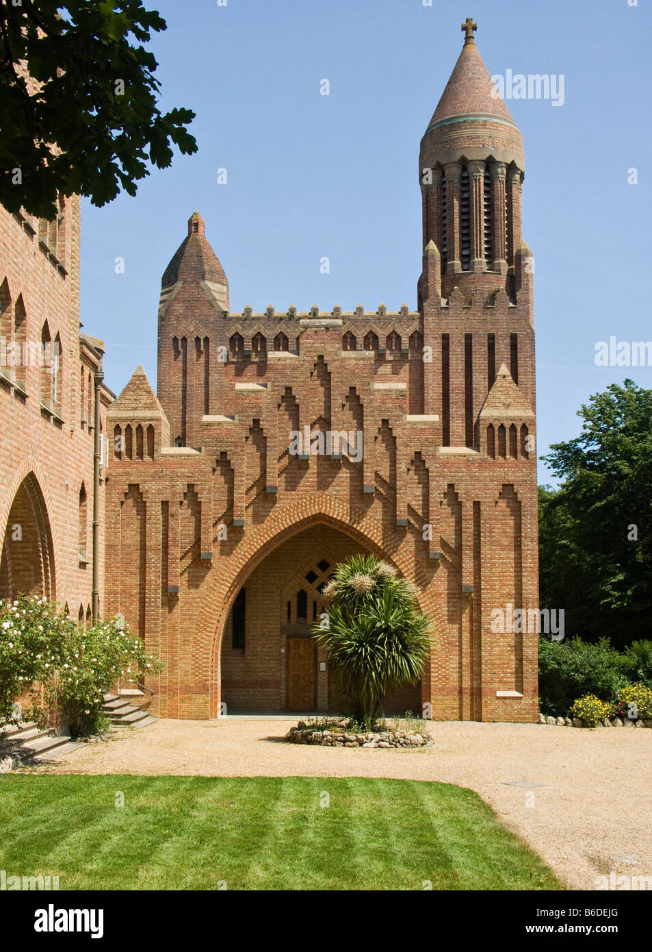quarr abbey isle of wight uk a benedictine abbey founded in 1901