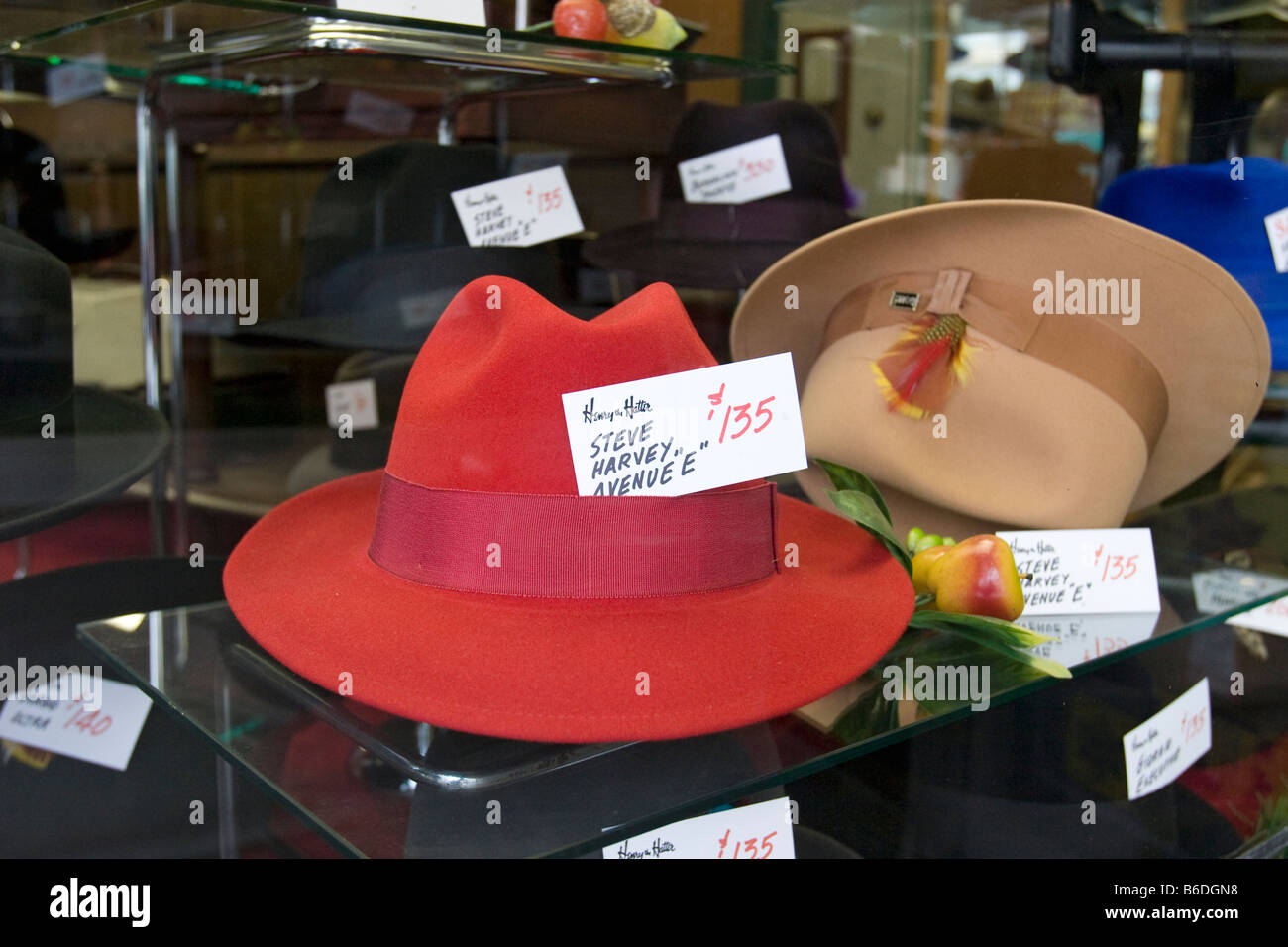 Detroit Michigan Hats on display at Henry the Hatter a hat shop that has  operated since 1893 in downtown Detroit 4780380392d