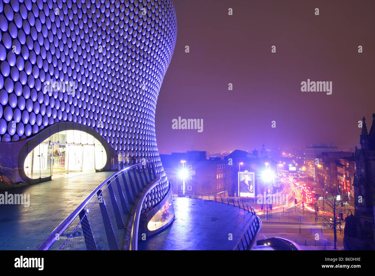 The Selfridges building in Birmingham City Centre England Part of the Bullring Shopping Centre At night - Stock Image
