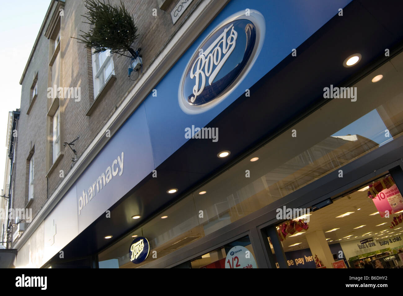 boots the chemist retail retailer shop shops chain brand branch york uk high street highstreet pharmacy dispensing - Stock Image